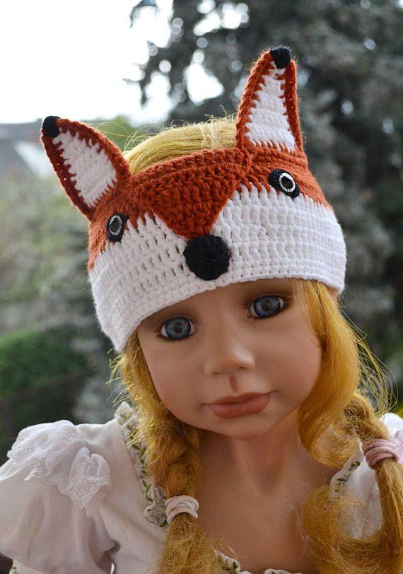 Foxy crochet headband, crochet fox, hat animal, fox headband, cute ...