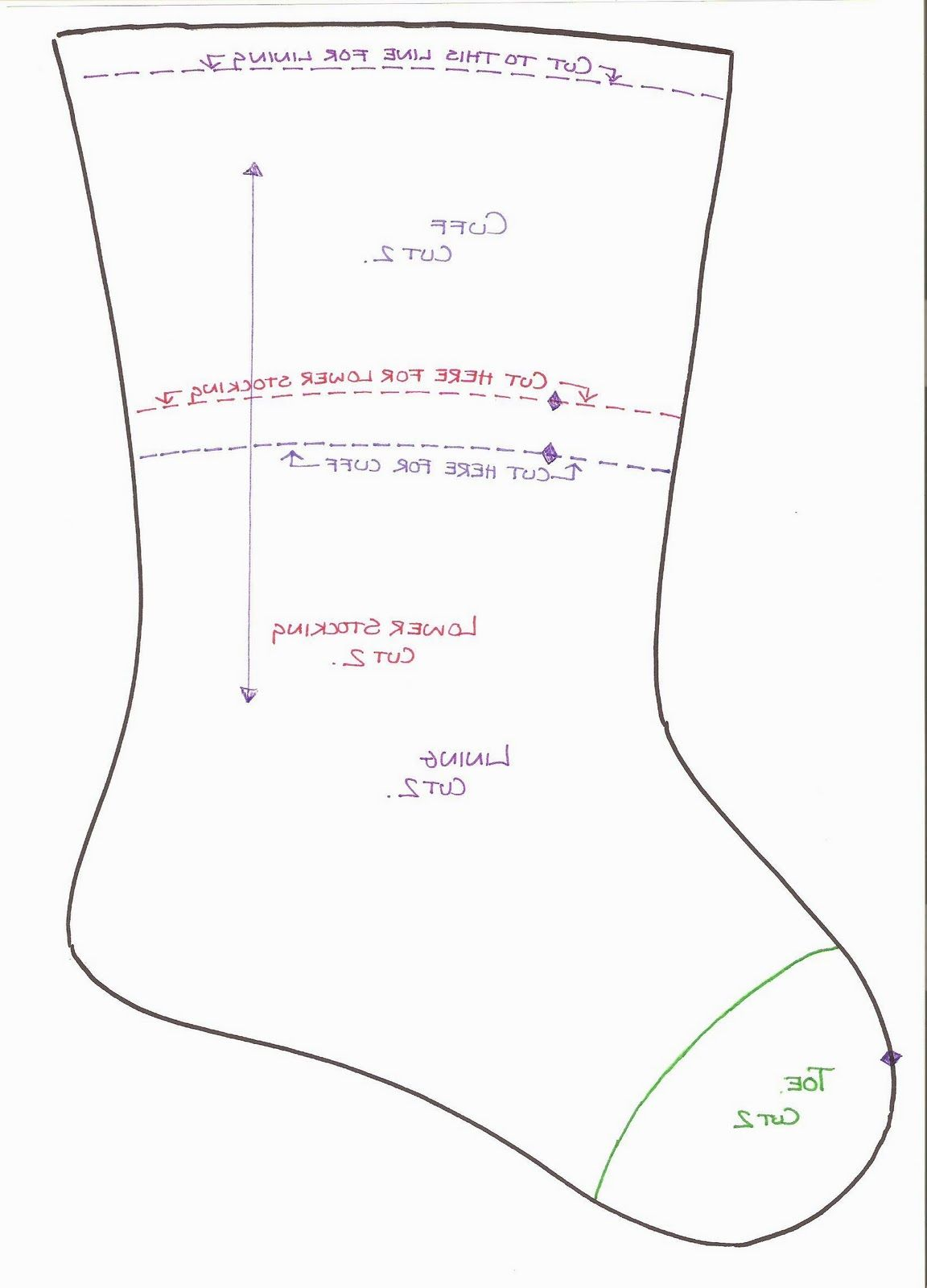 Pattern For A Doggie Stocking Patterns