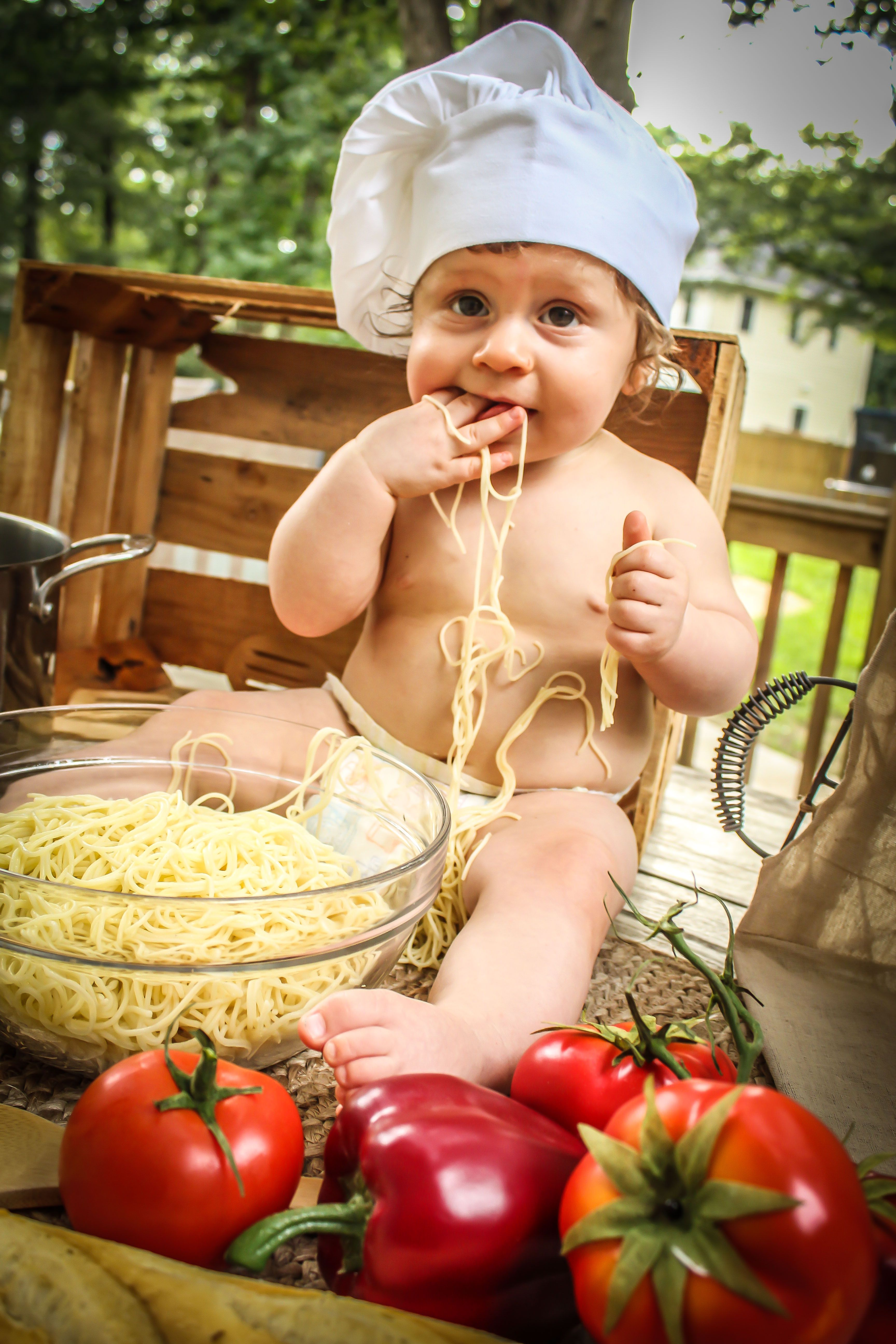 Yesterdays chef inspired baby photoshoot the savory version with chef cole check out salty duchess photography and give us a like and follow on