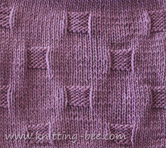 Free Cobblestones Stitch And Dishcloth Knitting Pattern From Http
