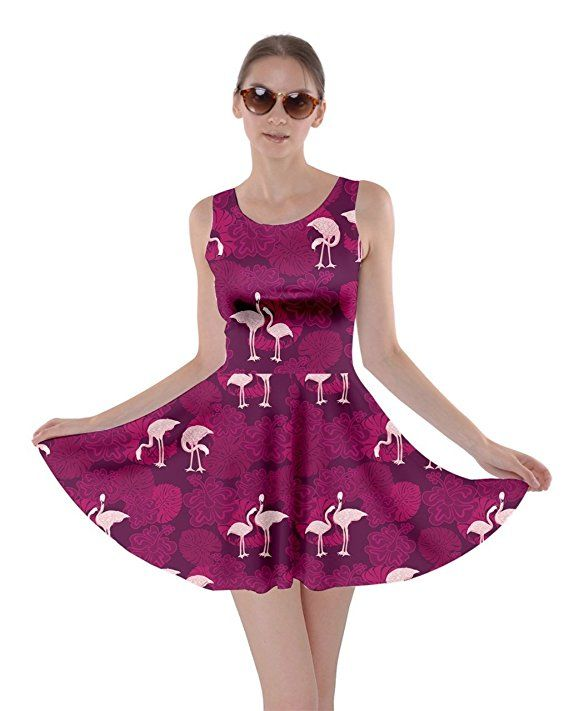 CowCow Womens Flamingo Summer Pool Party/Skater Dress - Sizes XS-5XL -  many colors/patterns available.