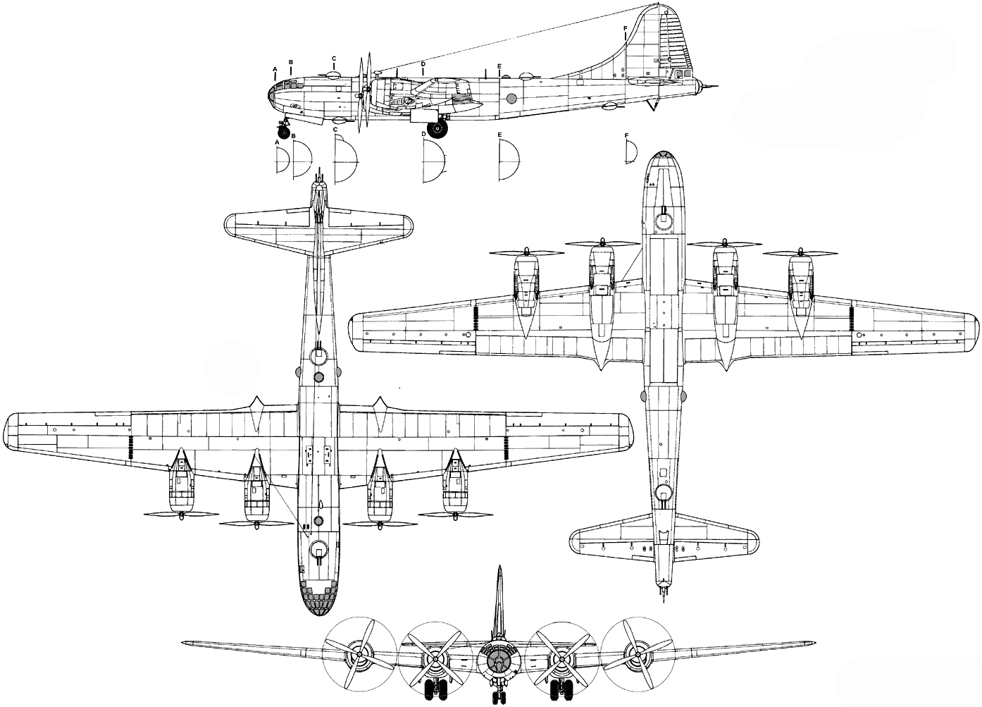 B-29 Superfortress blueprint | planes