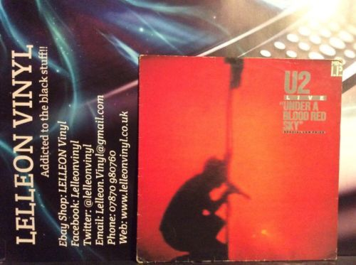 U2 Live Under A Blood Red Sun LP Album IMA3 Pop Rock 80's