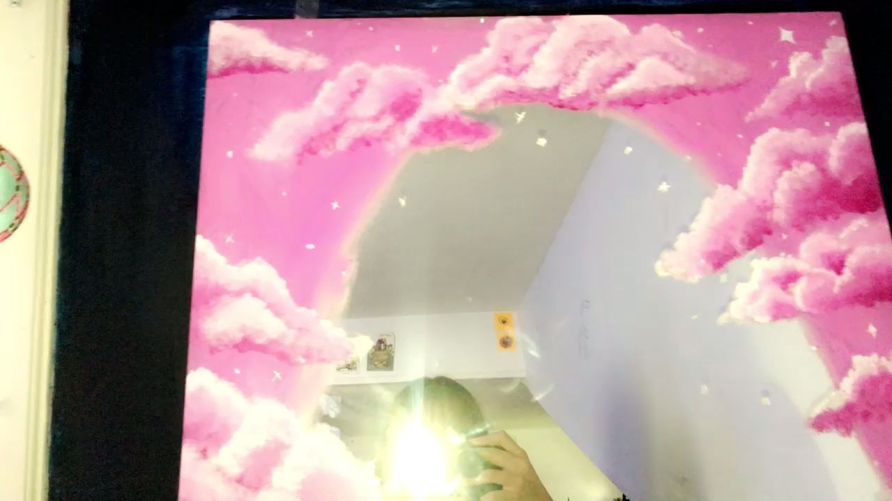 I Got Really Bored Video Mirror Painting Painted Mirror Art Painting On Mirrors Aesthetic
