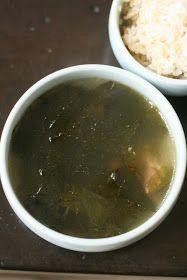 Korean Seaweed Soup 미역국