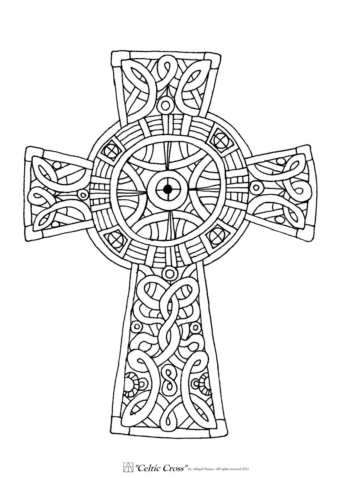 Coloring pages for adults crosses - Free Printable Celtic Cross Coloring Pages