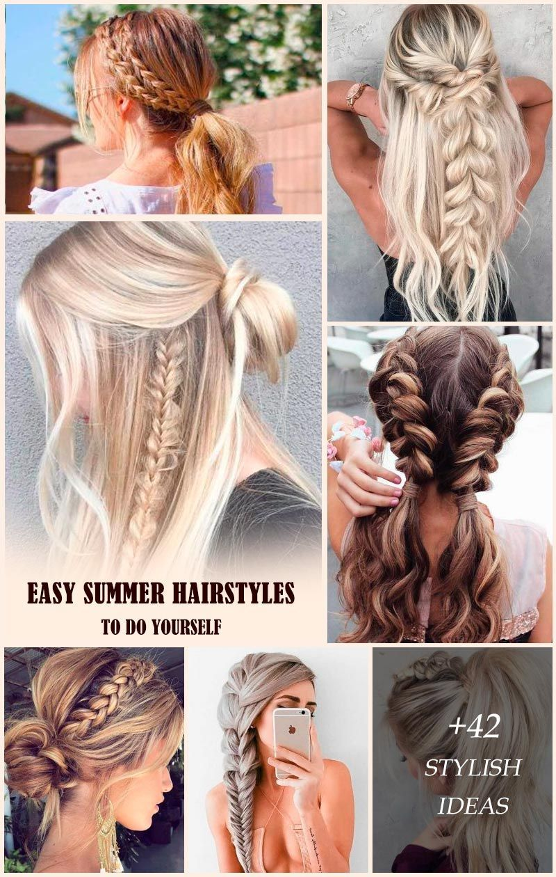 51 Easy Summer Hairstyles To Do Yourself In 2020 Medium Hair Styles Easy Summer Hairstyles Hair Styles