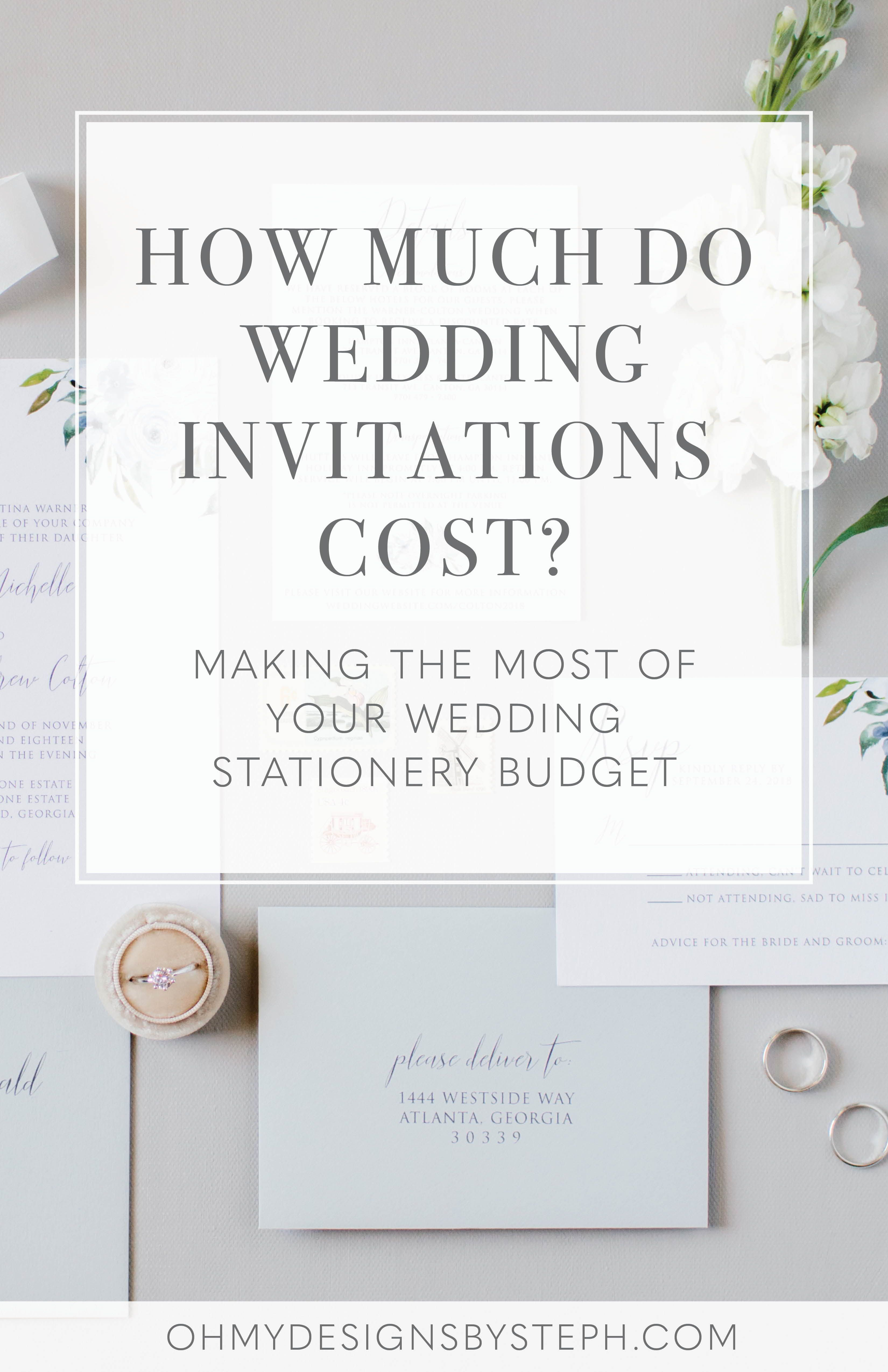 How Much Do Wedding Invitations Cost Oh My Designs By Steph Budget Wedding Invitations Beach Wedding Invitations Wedding Planning Advice