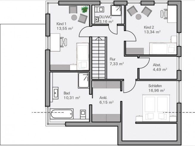 Grundriss og architektenhaus dietz modern im bauhausstil for Architektenhaus grundriss