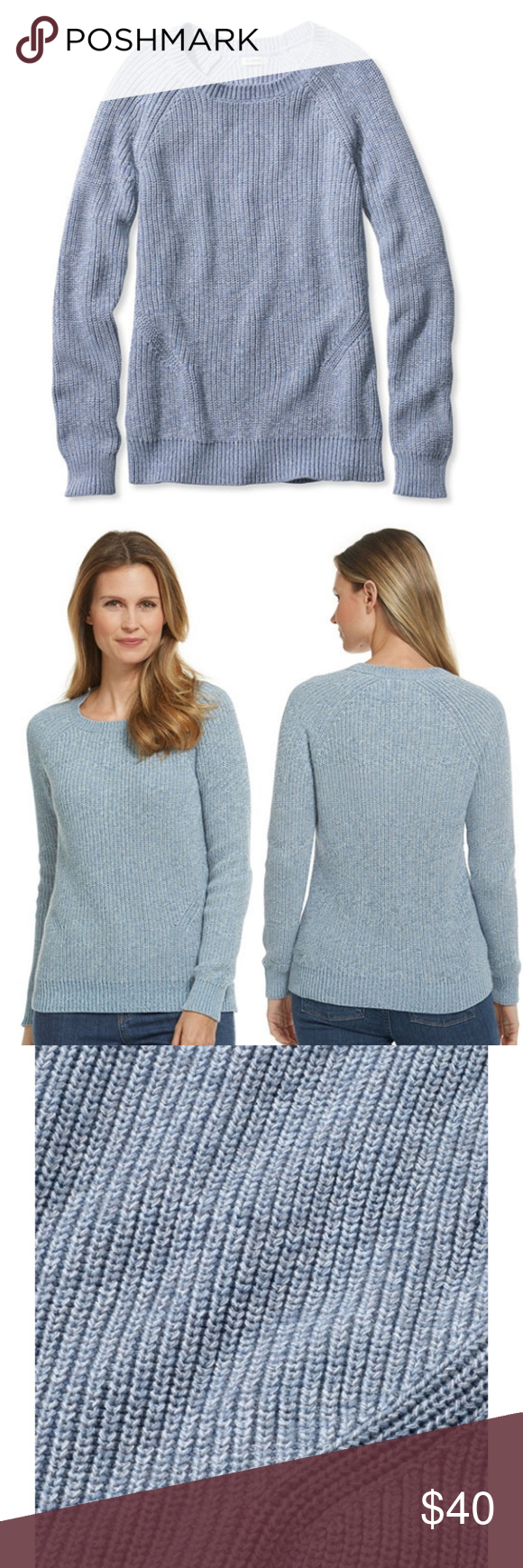 L.L Bean S ShakerStitch Crewneck Sweater (With images