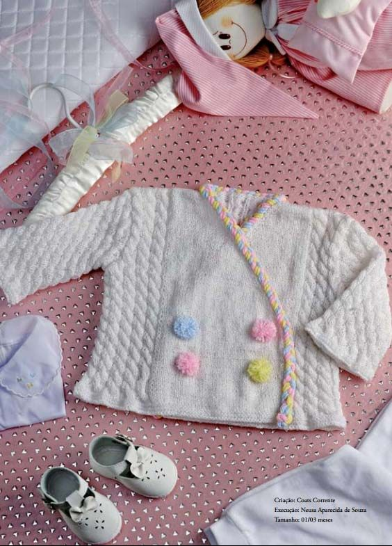f713fb4871 Receita Casaquinho para Bebê Cisne Super Bebê