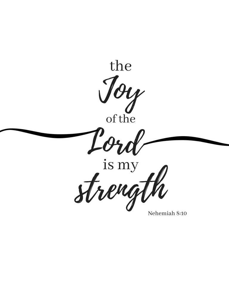 The Joy Of The Lord Is My Strength. Nehemiah 8:10. This