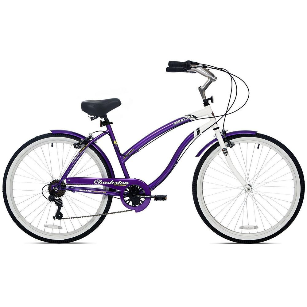 26 womens beach cruiser bike 7 speed ladies bicycle vintage bikes purple new