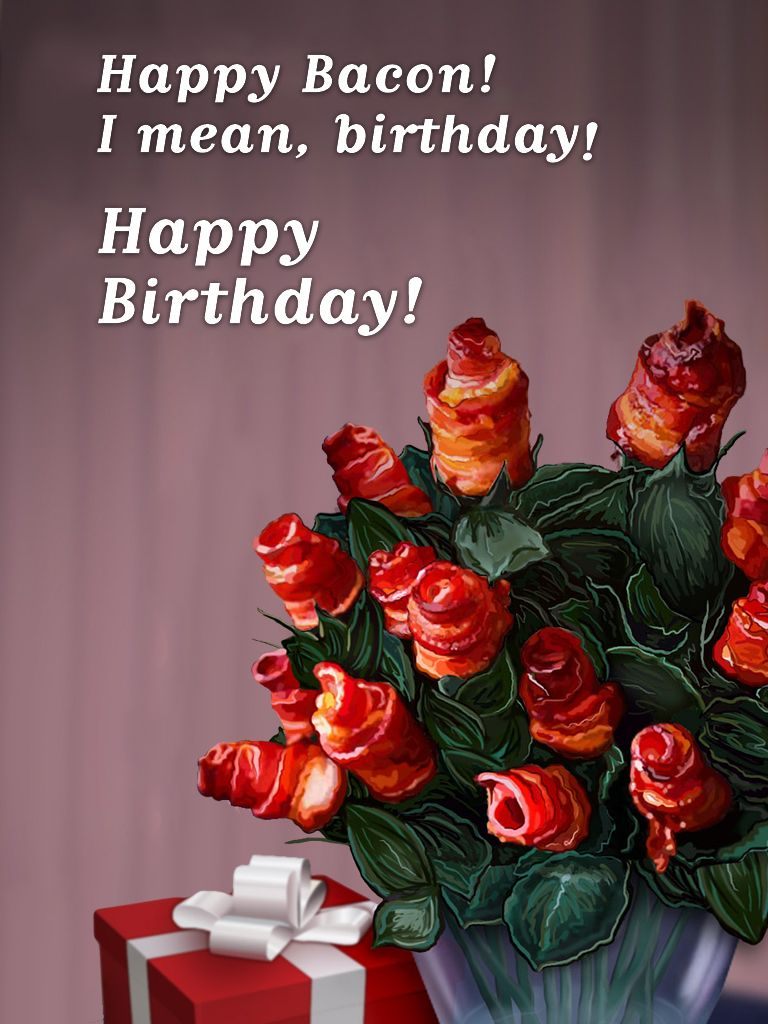 Bacon birthday for alex funny birthday wishes pinterest birthday wishes card kristyandbryce Choice Image