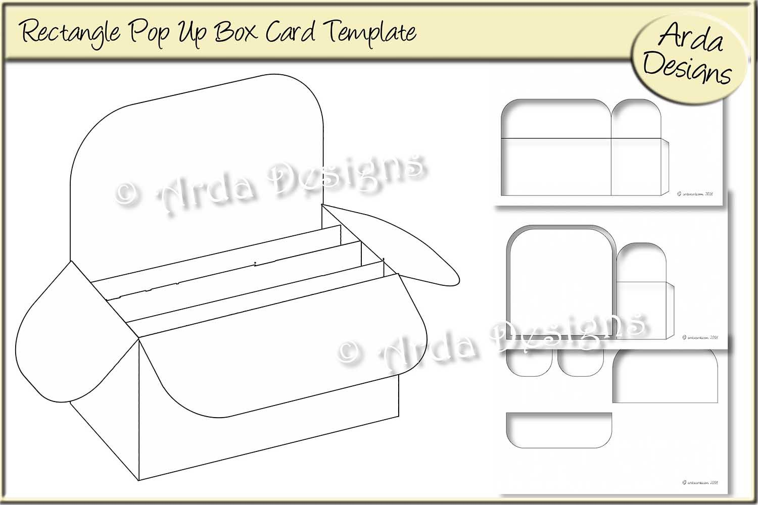 Rectangle Pop Up Box Card Cu Template Intended For Card Box Template Generator Professional Template Ideas Pop Up Box Cards Pop Up Card Templates Card Box