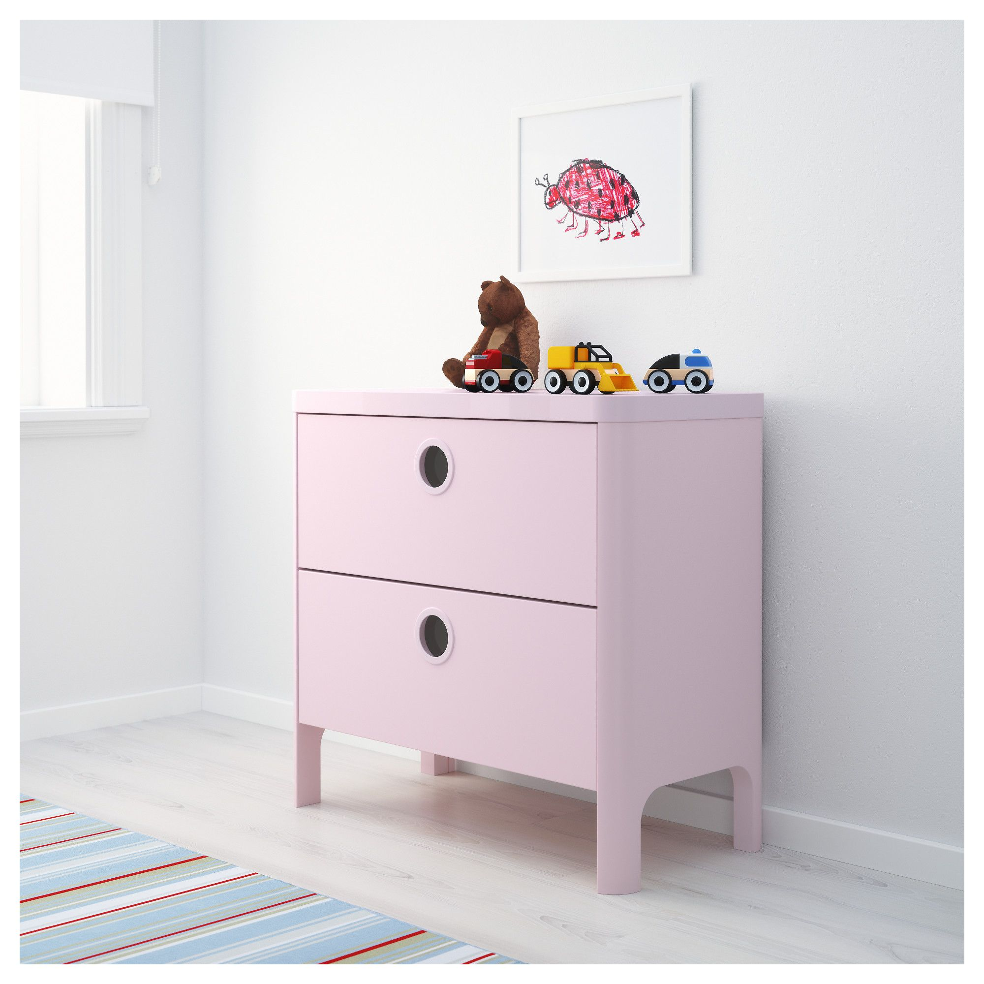 Ikea Kinderbett Busunge Busunge Chest Of 2 Drawers Light Pink Ikea Zoes New Room