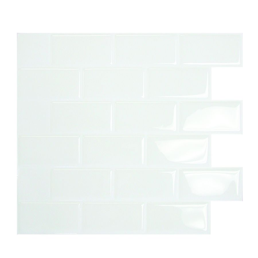 Smart tiles 6 pack white mosaic composite vinyl wall tile common smart tiles 6 pack white mosaic composite vinyl wall tile common 10 dailygadgetfo Images