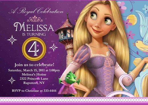 Custom Personalized Rapunzel Birthday Party Invitation Digital