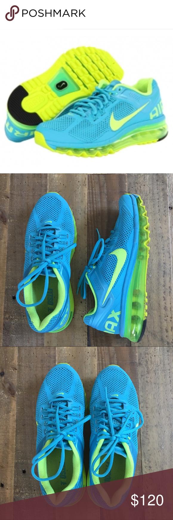 9fa438b6b308 ... Womens Nike Air Max 2013 Gamma Blue Volt Size 7.5 ...