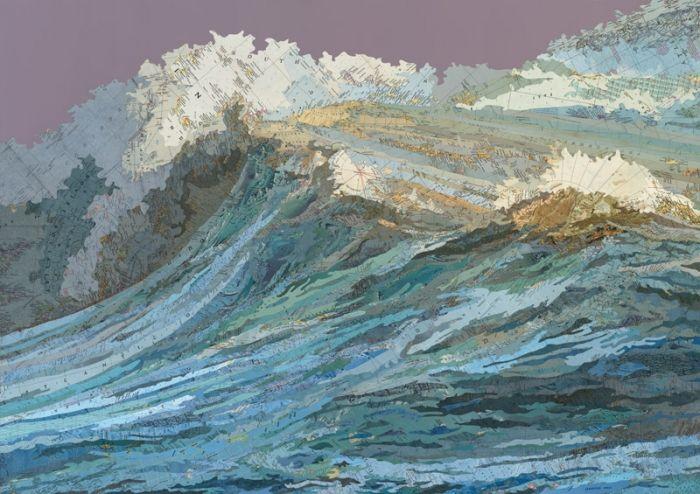 Matt Cusick's art collages ROCK...this is maps!