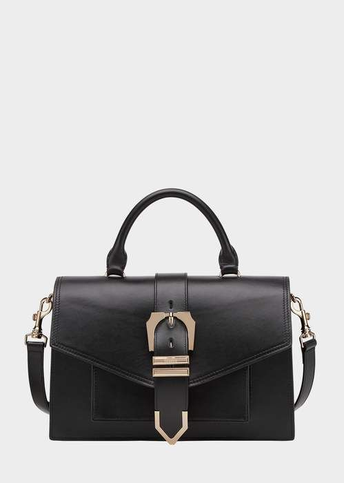 a07d5ace6902 Versace Top Handle Iconic Buckle Bag