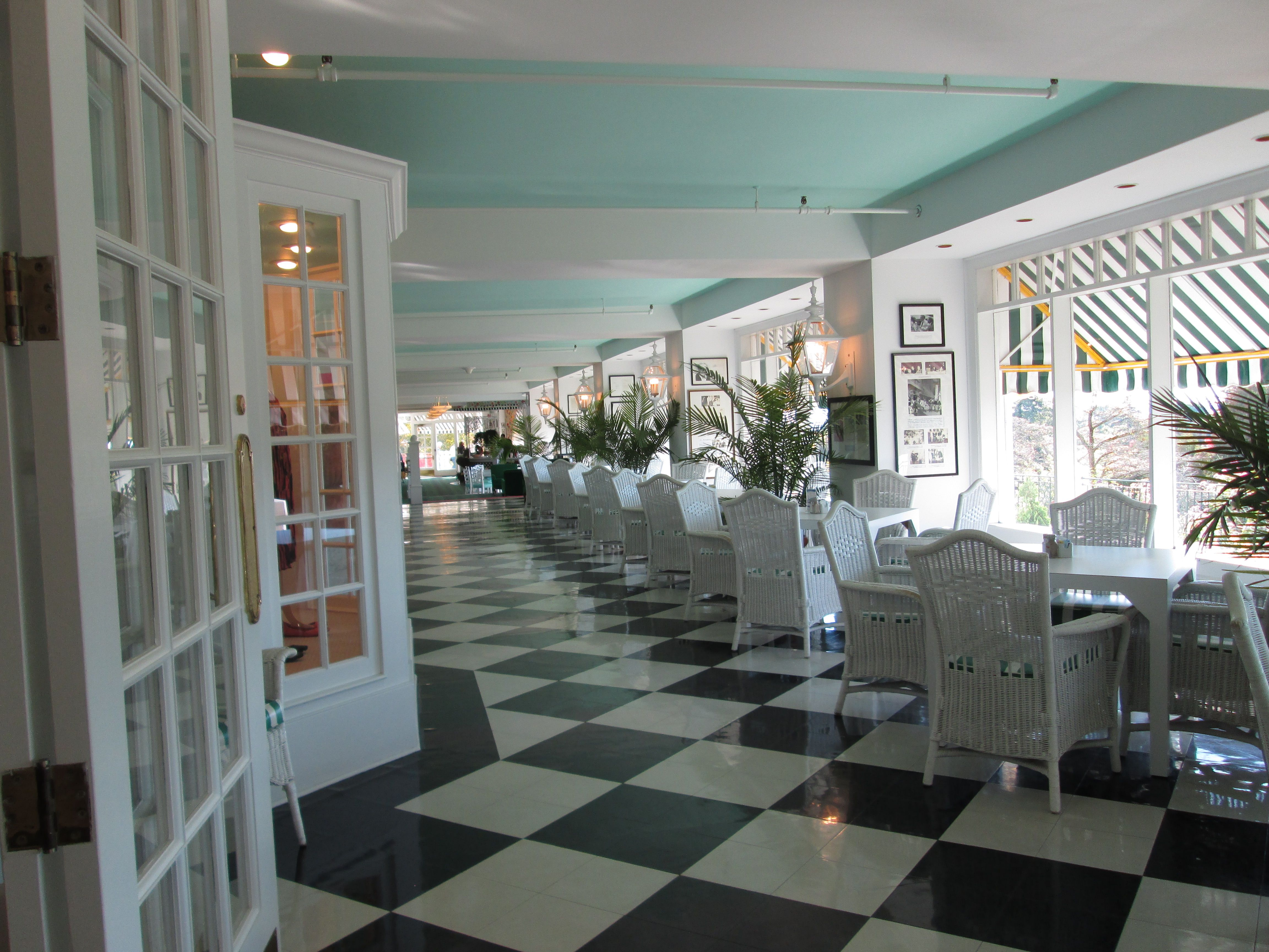 Interior of the Grand Hotel with unique shops
