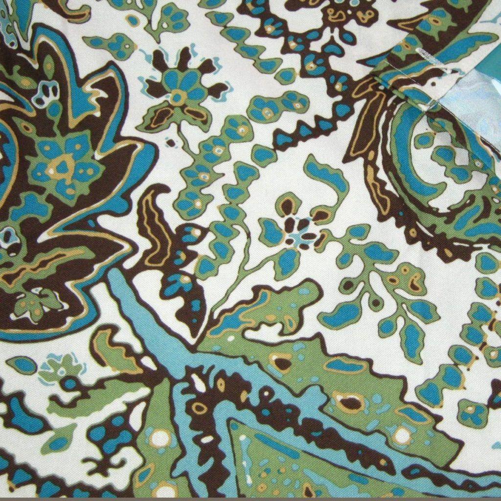 Wonderful Brown · Green Brown Paisley Shower Curtain