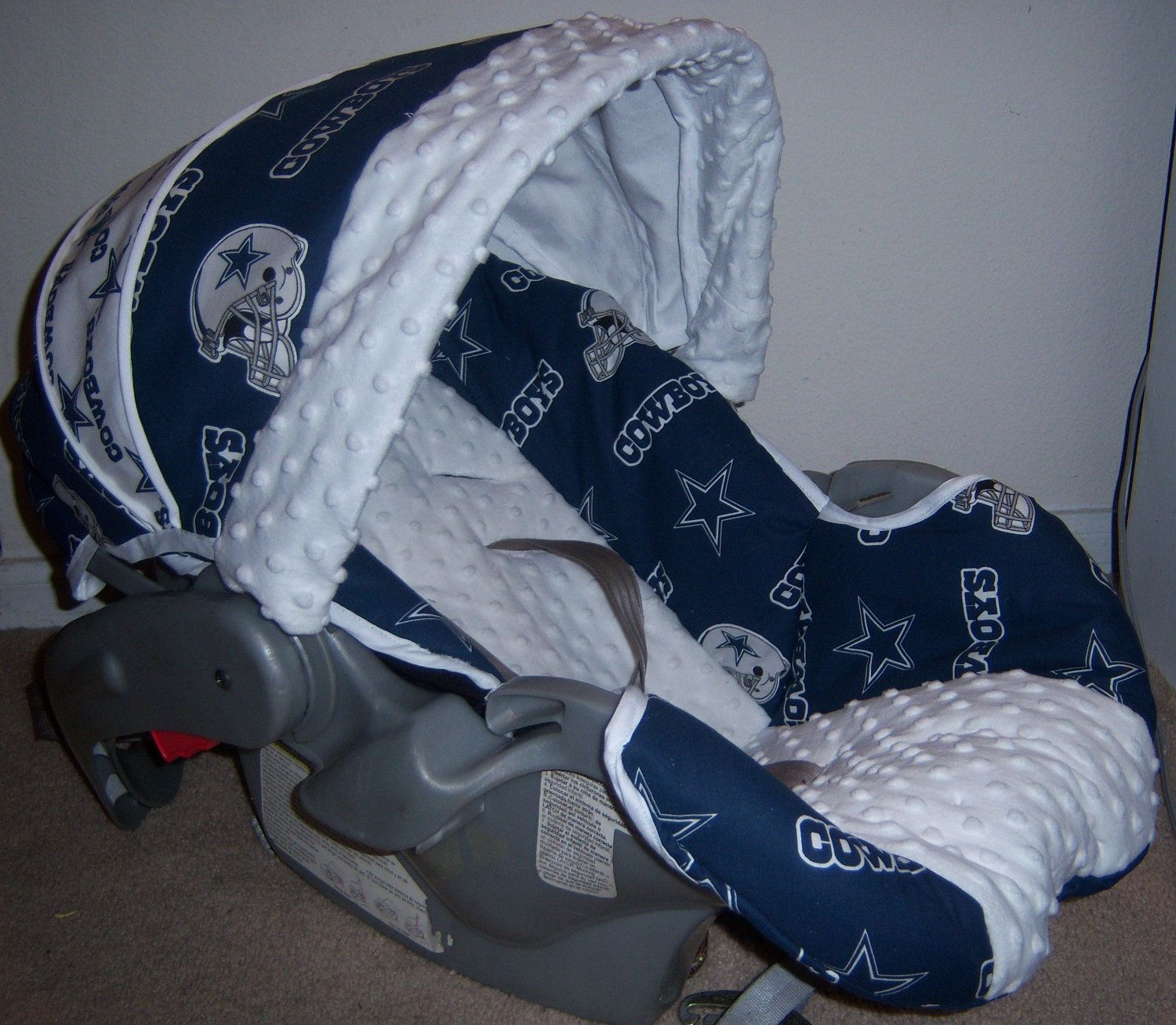 Dallas Cowboys Baby Car Seat Cover By Jennirolli5 On Etsy 7000