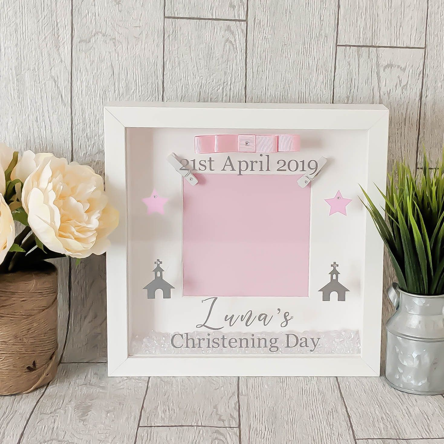 Personalised Christening Day Photo Frame Gift Keepsake