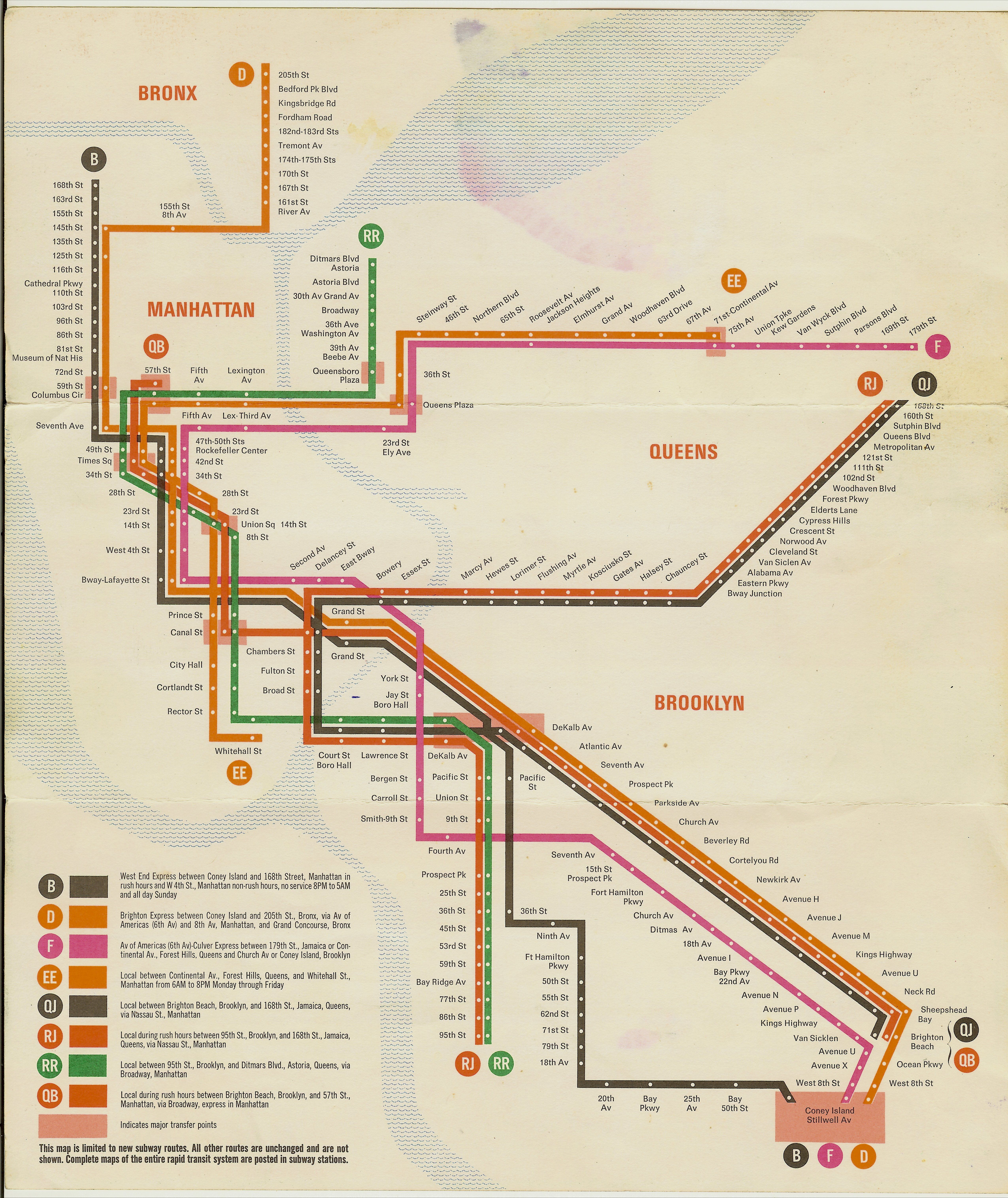 New York City Bus And Subway Map.Transitional New York City Transit Authority Subway Map 1967