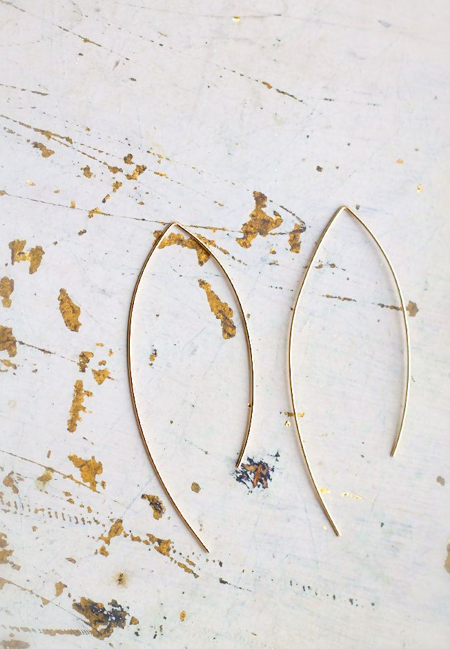 etsyfindoftheday:etsyfindoftheday | SUGGESTED SHOPS | 3.13.15suggested shop: laosbornfeatured item: large arc earrings // available in yellow gold, silver, or rose gold.