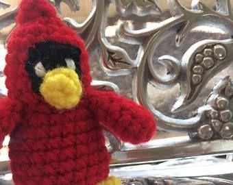 A beautiful, entirely handmade cardinal!