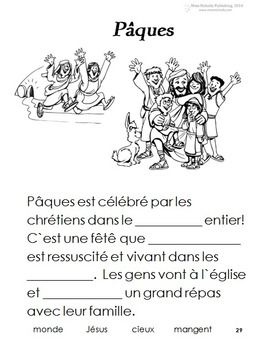 french immersion worksheets to celebrate the holidays easter pques paquesthis package includes. Black Bedroom Furniture Sets. Home Design Ideas