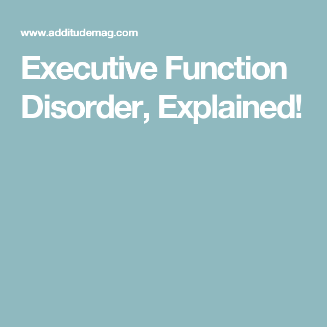 Adult disorder learning