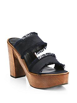 Derek Lam 10 Crosby Satin Platform Sandals