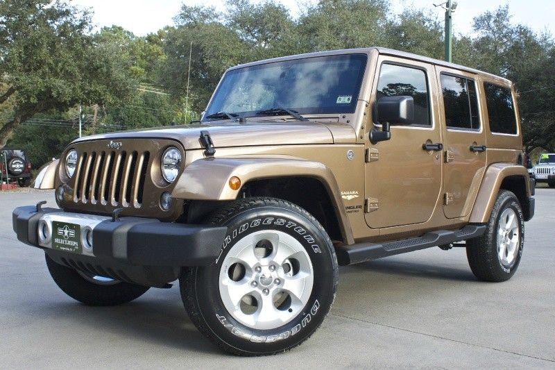 Brand New 2015 Copper Brown Unlimited Saharaa Must See Color In