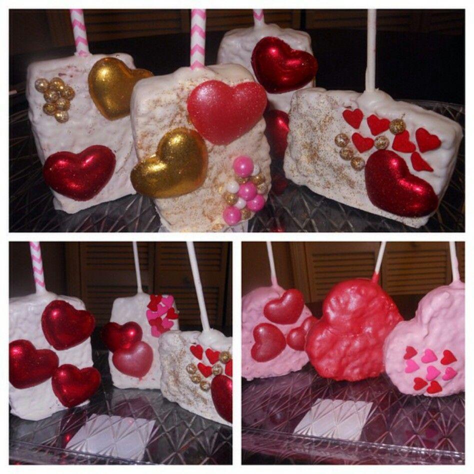 @dippeddecadentdeserts valentine's day rice Krispy treats ...