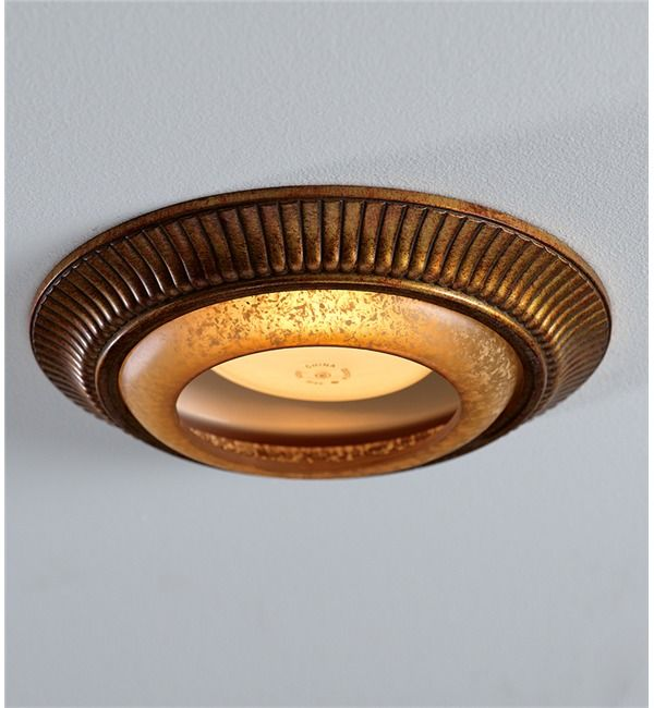 Recessed Light Cap Ring With Fluted Trim
