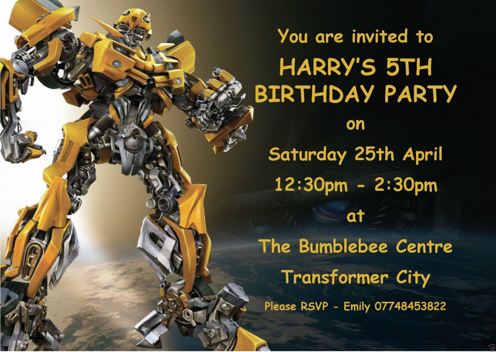 Приглашение на день рождения трансформеры шаблоны, лица