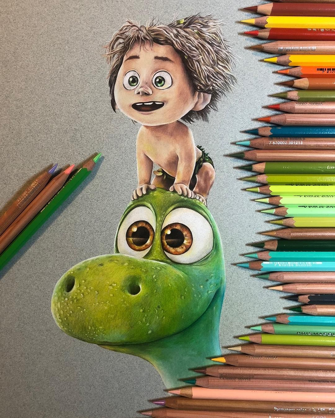 Done No Filter Gooddinosaur Coloredpencil Art Coloredpencildrawing Drawing Fabercastell Polychr Colorful Drawings Disney Art Drawings Disney Drawings
