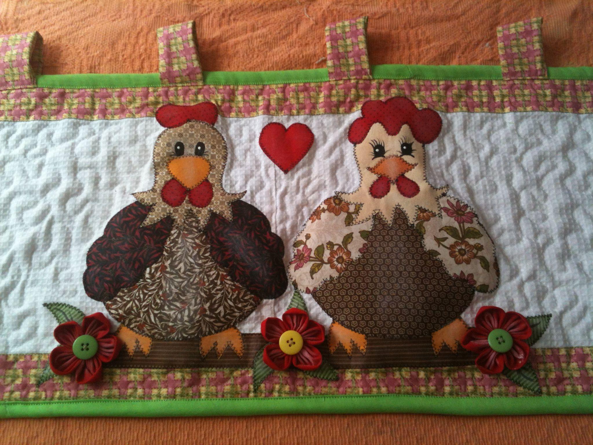 Imagem relacionada bando pinterest gallinas patchwork e cenefas - Patchwork para cocina ...