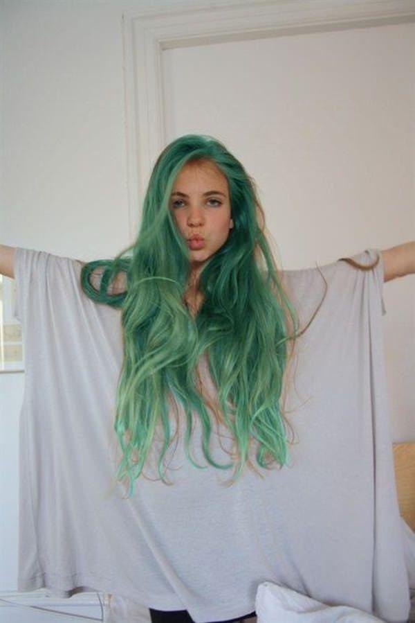 71 gr ne haare f rben ideen die sie lieben werden cabelo verde cabelo cor pastel e cabelo