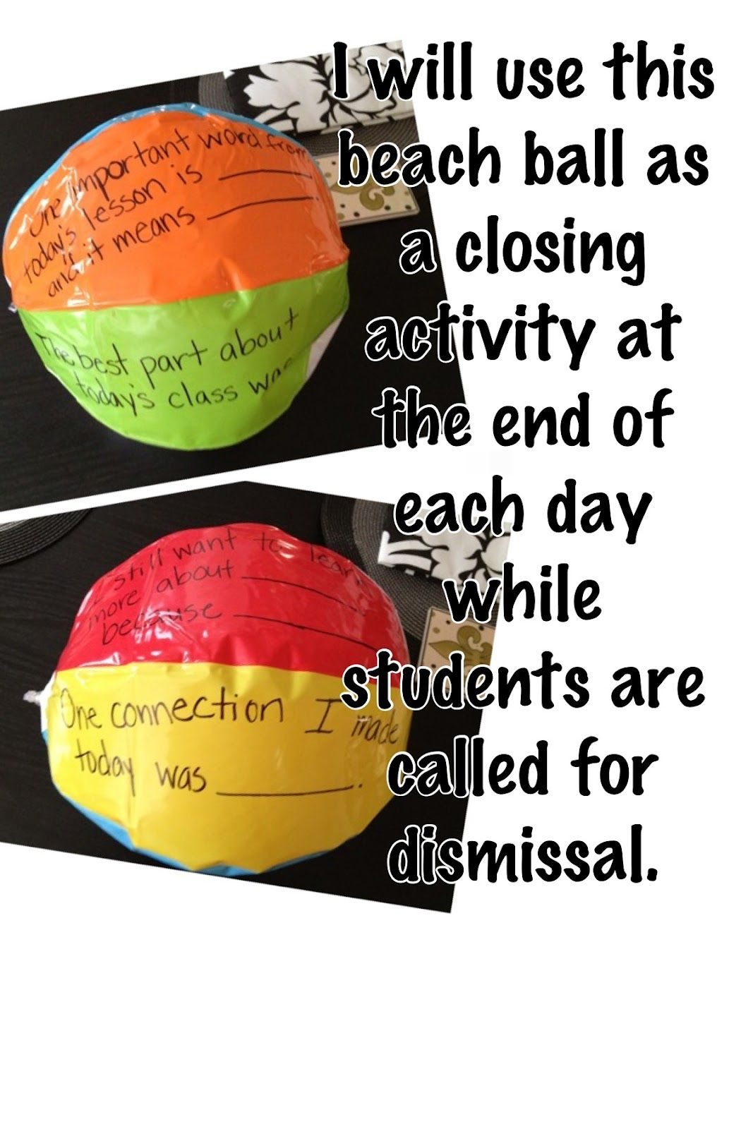 """Great way to include daily reflection with students.  Seems like a great way to keep kids focused during """"silent"""" dismissal."""