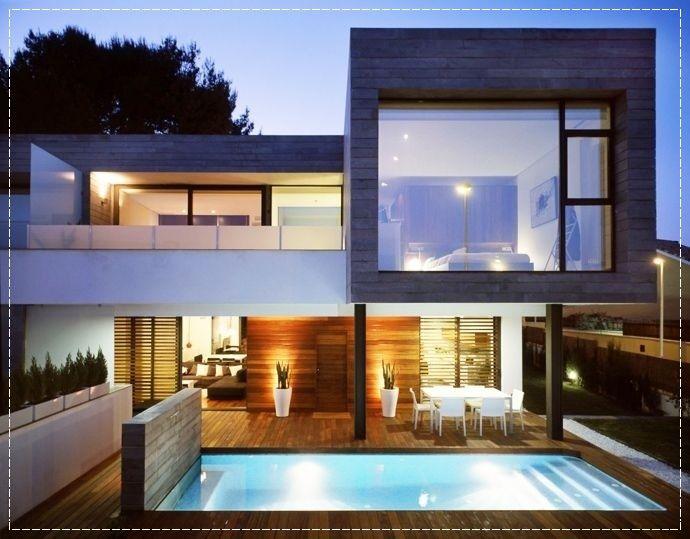 Fachadas de casas modernas com vidros home decor for Fachadas de casas modernas wikipedia