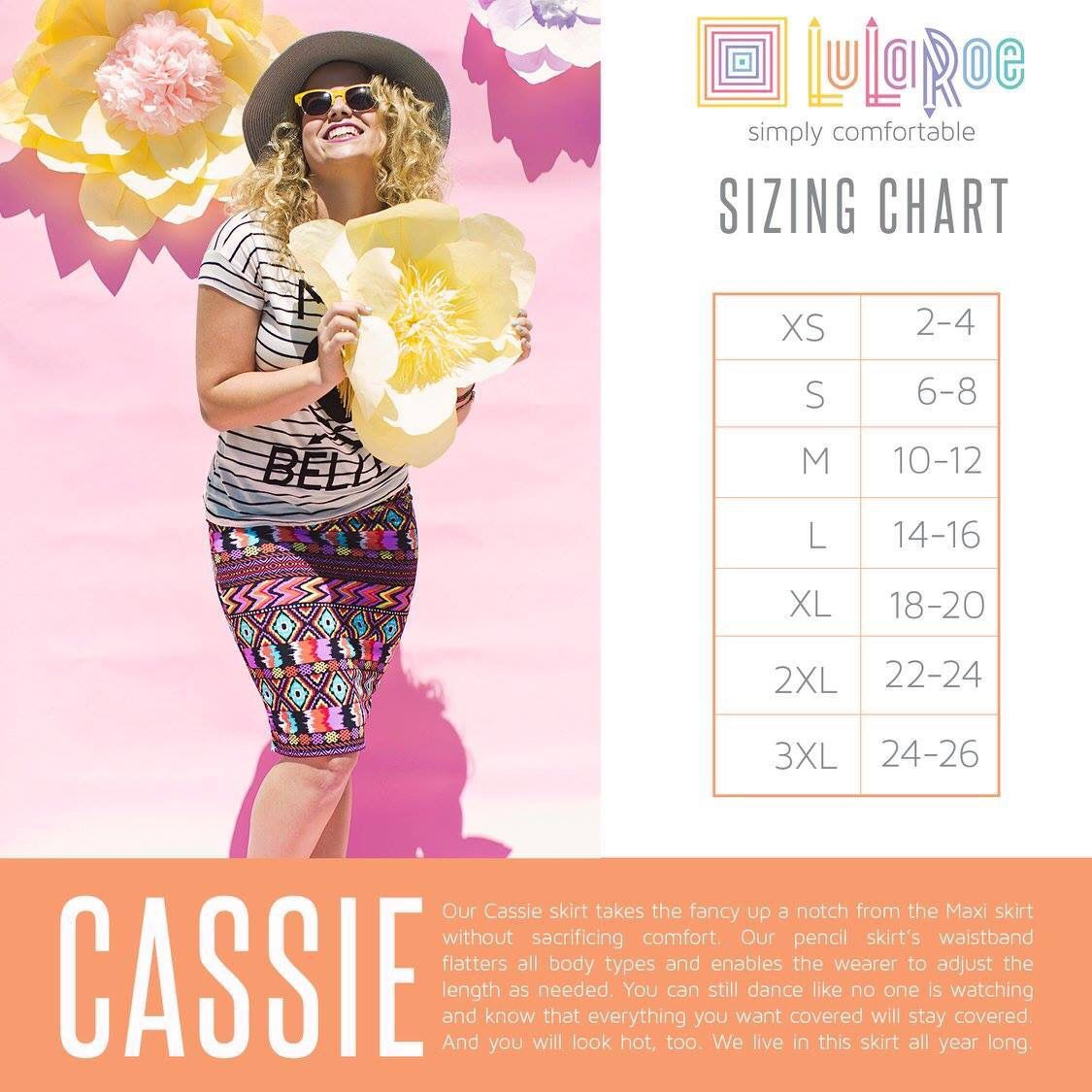 Cassie size chart https://www.facebook.com/groups/LuLaRoeKimGathers/