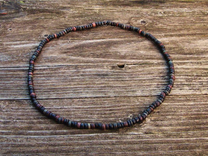 Männer-Kette aus dunklen Holzperlen von Mädchenkram auf DaWanda.com