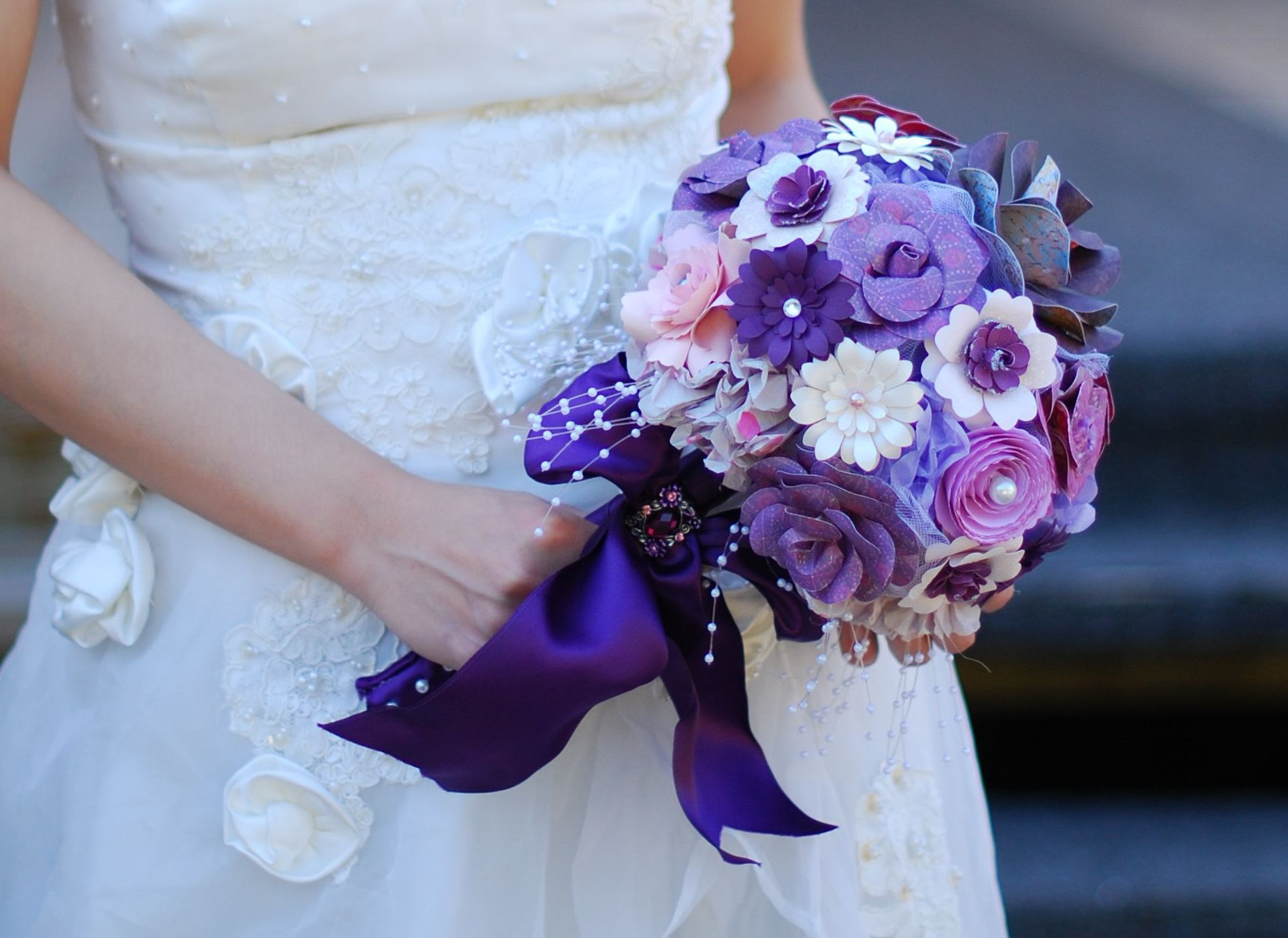 Handmade Flower Bouquet Purple flower bouquet, Purple