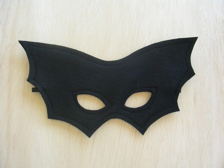 Child Size Bat Mask. $10.00, via Etsy.//could make with black foam ...
