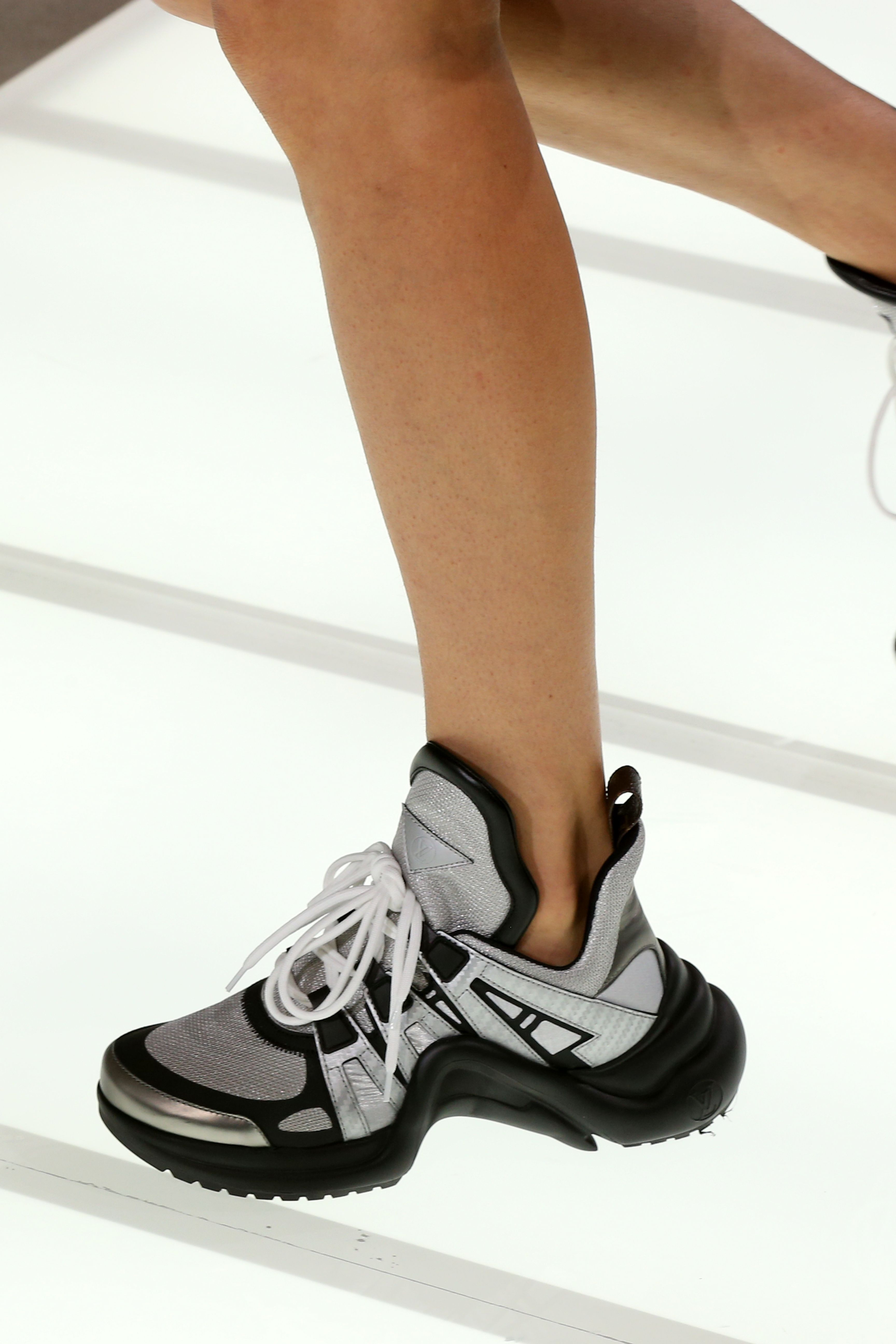 Sneakers from the Louis Vuitton Spring-Summer 2018 Show by Nicolas  Ghesquiere. Watch the show now at louisvuitton.com. 2b5eac40752