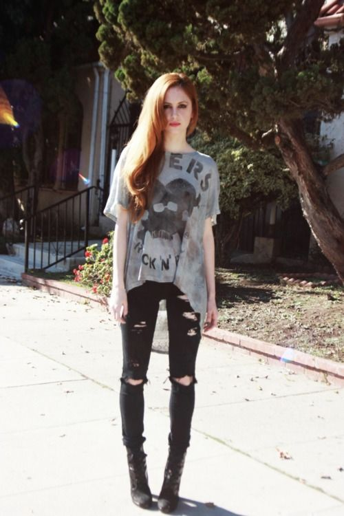 b39a4842d24b I'm not allowed to wear ripped jeans at school but I really want a ...